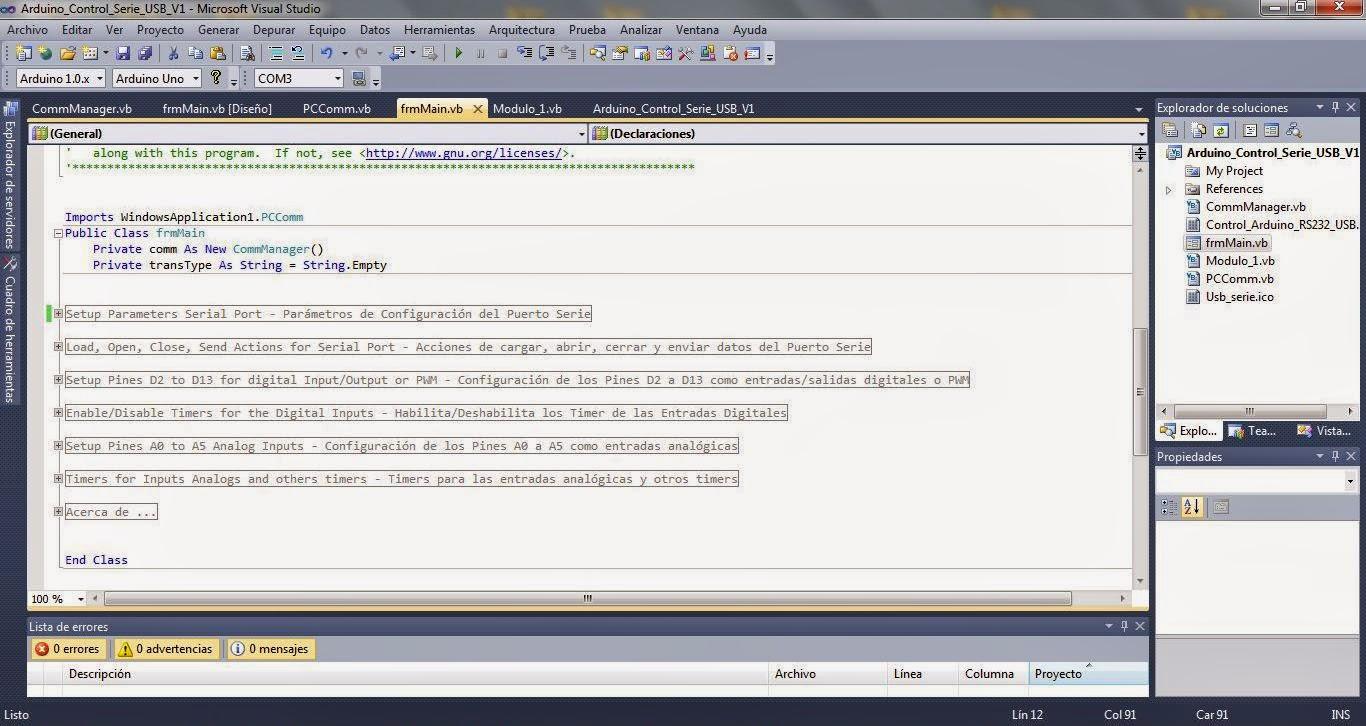 Quot control arduino with vb proyectos de electrónica