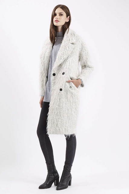 light grey wool coat, grey wooly coat,