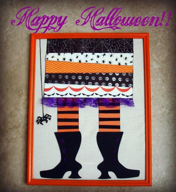 Reciclatex 5 cuenta atr s para halloween cuadro pies de - Cuadros de pies ...