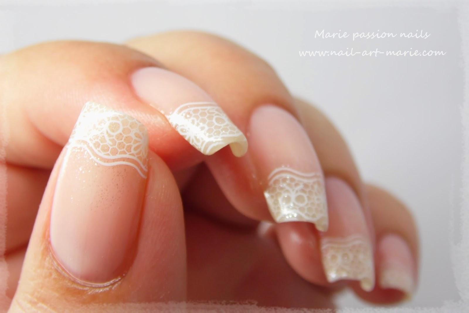 nail art french en dentelle5