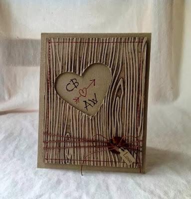 Открытка с деревянной текстурой