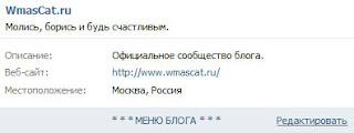 блок материалы на странице группы ВКонтакте