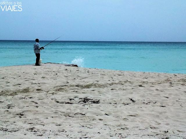 Pescador en Varadero