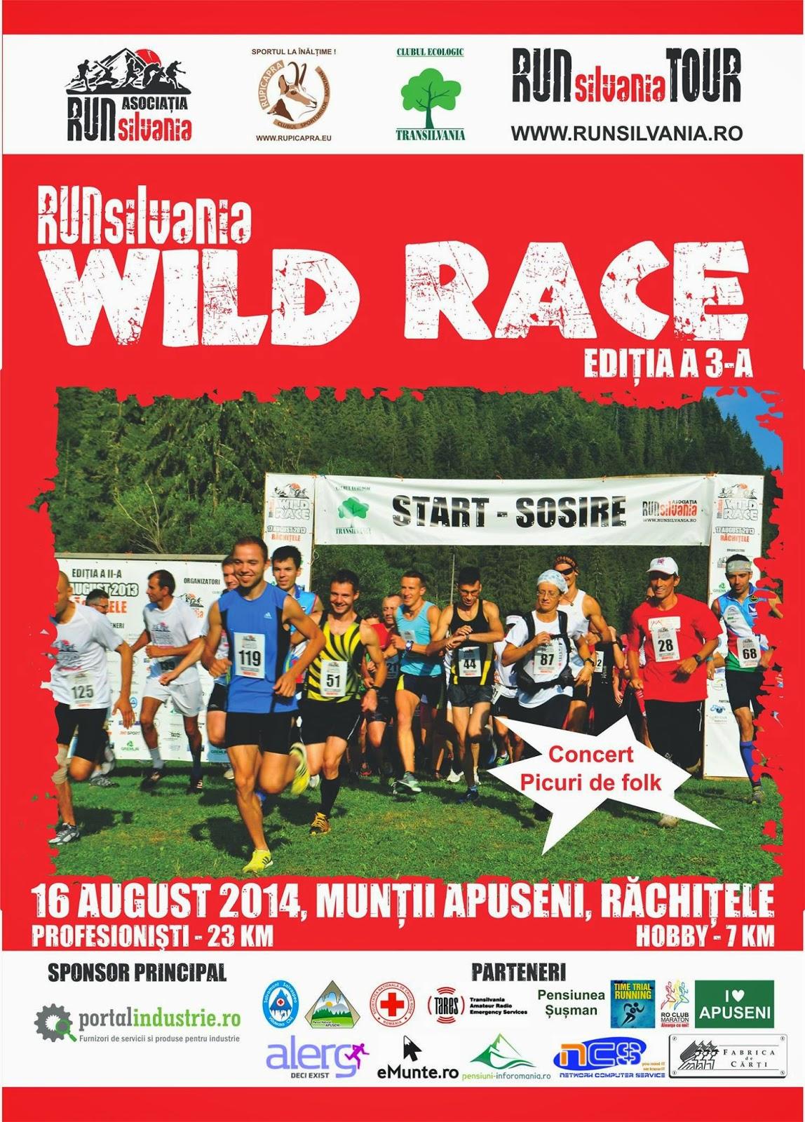 Runsilvania WILD RACE, programul evenimentului din acest weekend. Afis