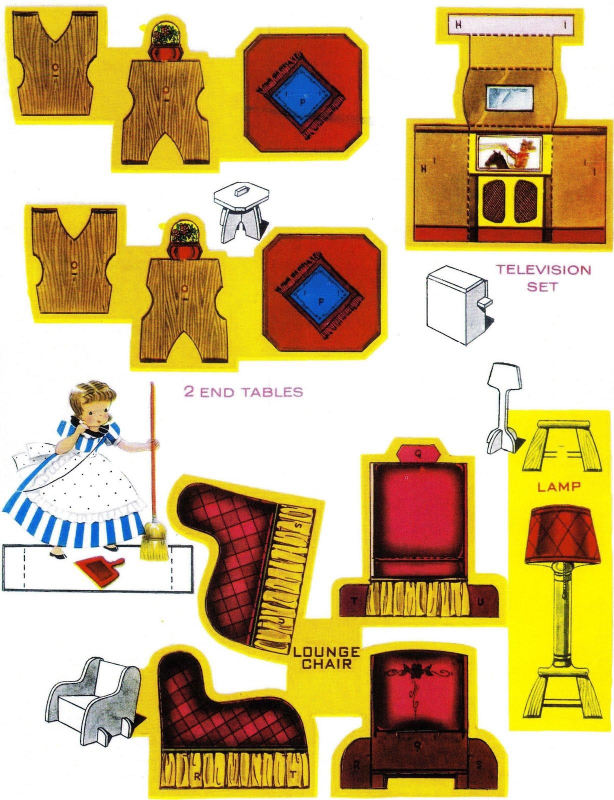 Мебель из бумаги для куклы