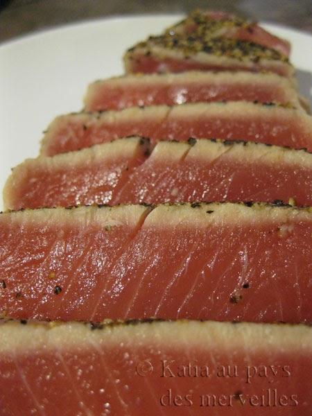 katia au pays des merveilles steak de thon au poivre. Black Bedroom Furniture Sets. Home Design Ideas