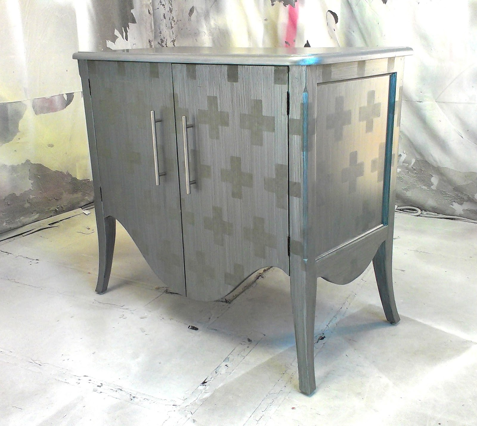 silver painted furniture. Sydney Barton - Painted Furniture Silver