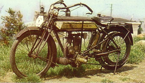 Rudge-multi 1910 transmission par courroie