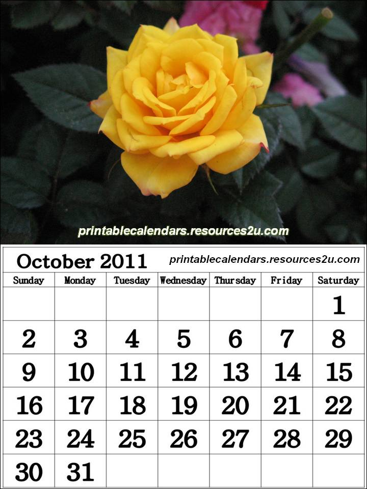 Printable Calendars with quotes or sayings: for 2011 Calendars