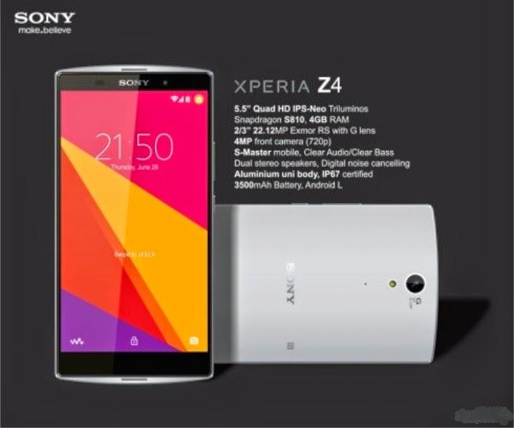 Sony Xperia Z4 Harga dan Spesifikasi Terbaru 2015