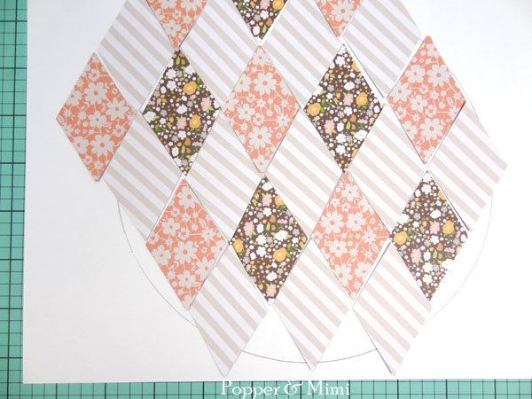 Create an argyle pattern with patterned paper | popperandmimi.com