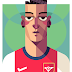 Mesut Ozil Arsenal Cartoon (Kartun) Wallpaper