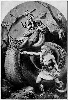 Siegfried im Kampf mit dem Drachen