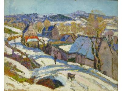 Victor Charreton -   Montagnes à Murols