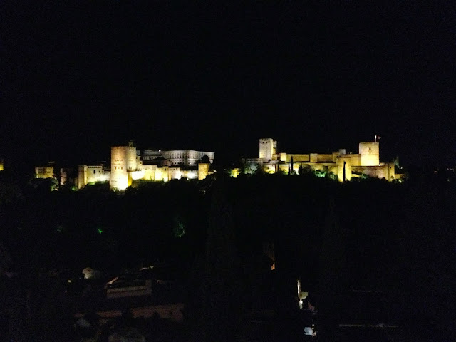 Alhambra palace at night on Semi-Charmed Kind of Life