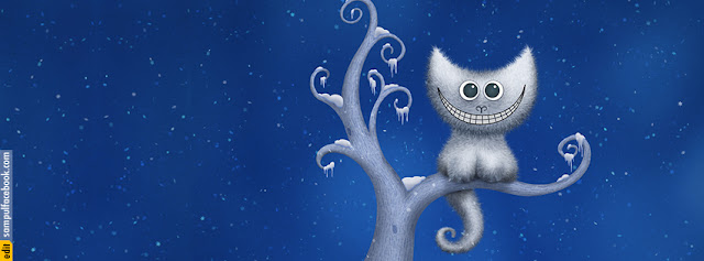 Sampul Facebook Cheshire Kitten Christmas