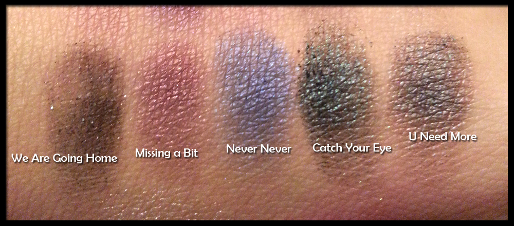 I Heart Makeup - Wonder Palette - Passion - Swatches