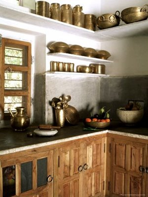 Indian ethnic kitchen design beautiful home plans for Traditional kitchen equipments