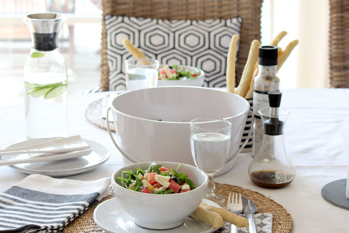 Amalie loves Denmark Rucola-Melonen-Salat