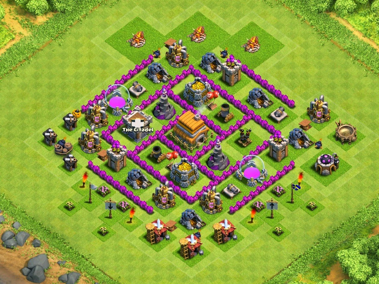 Formasi Base Clash of Clans Town Hall 6 ( Trophy )