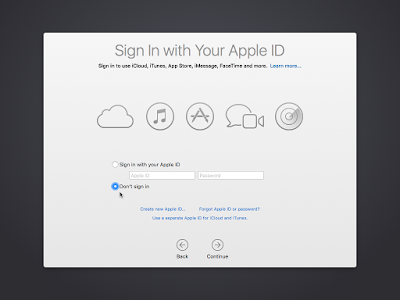 Apple ID OS X El Capitan