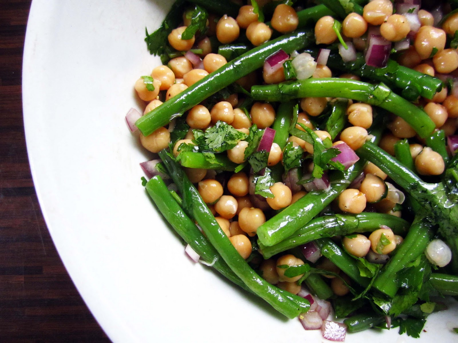 Green Bean and Chickpea Herb Salad | The Grazer