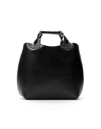 Bolso negro capazo Zara primavera/verano 12