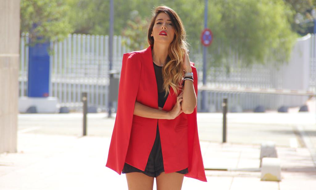 rocio osorno blazer roja de fashion pills, chaqueta roja, blogger instablogger sevilla, lavish alice,