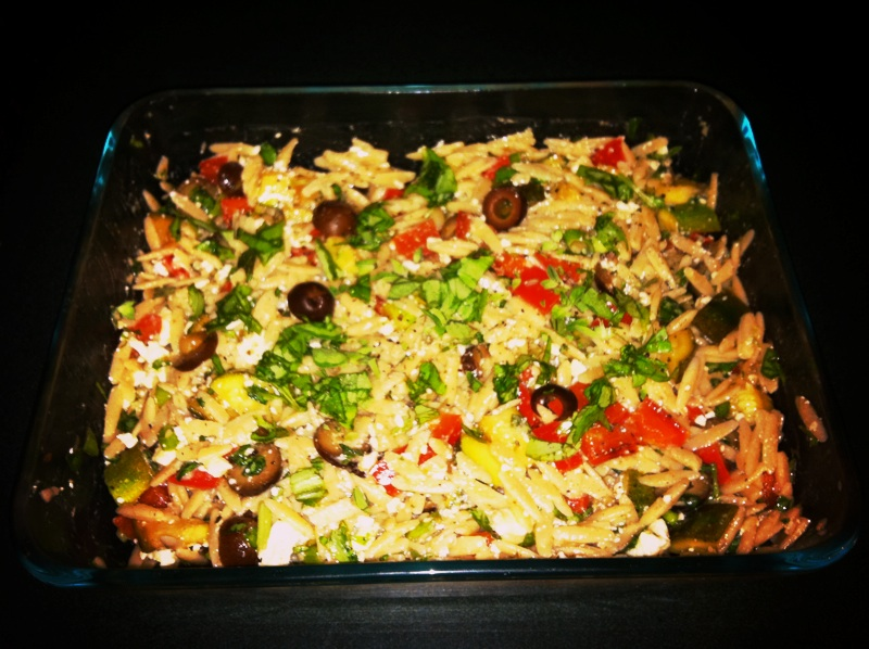 NashGirl Foodie: Whole Wheat Orzo and Grilled Vegetable Salad