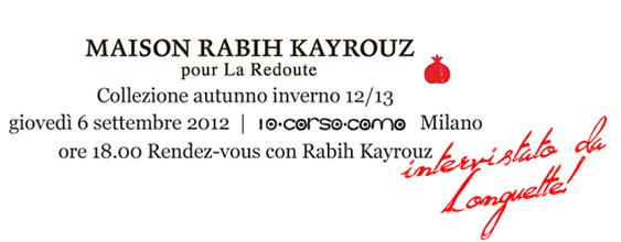 Rabih Kairouz pour la Redoute