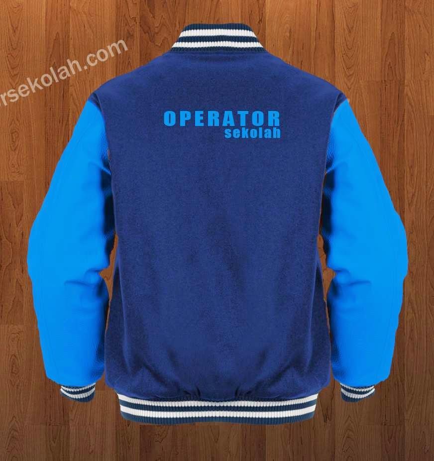 Contoh Desain Baju - Jaket Operator Sekolah Simpel Keren - Belakang