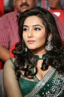 Actress Ragini Dwivedi  Pictures in Saree at Jenda Pai Kapiraju Audio Launch 0015