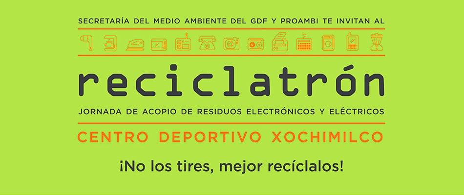 Acopio de residuos eléctricos y electrónicos Reciclatrón de Febrero 2014