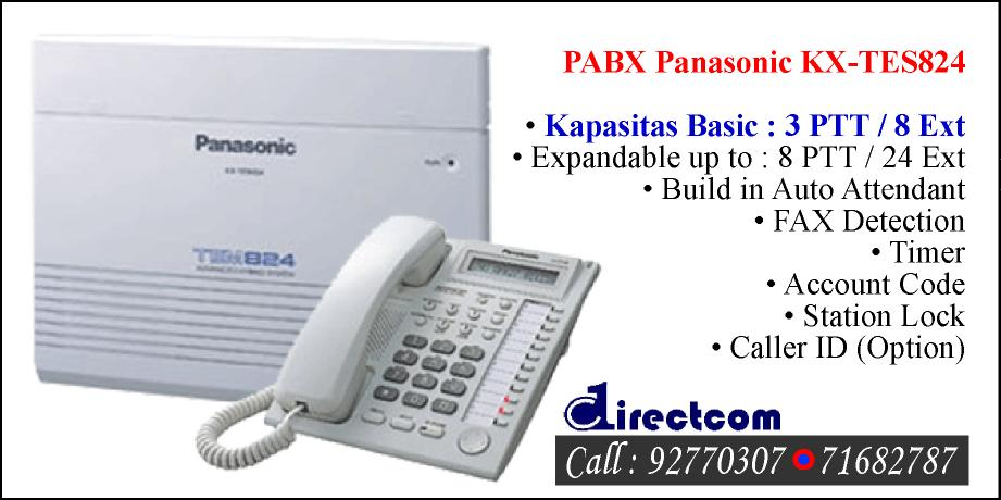 Review pabx panasonic kx tes824 toko directcom for Panasonic phone label template