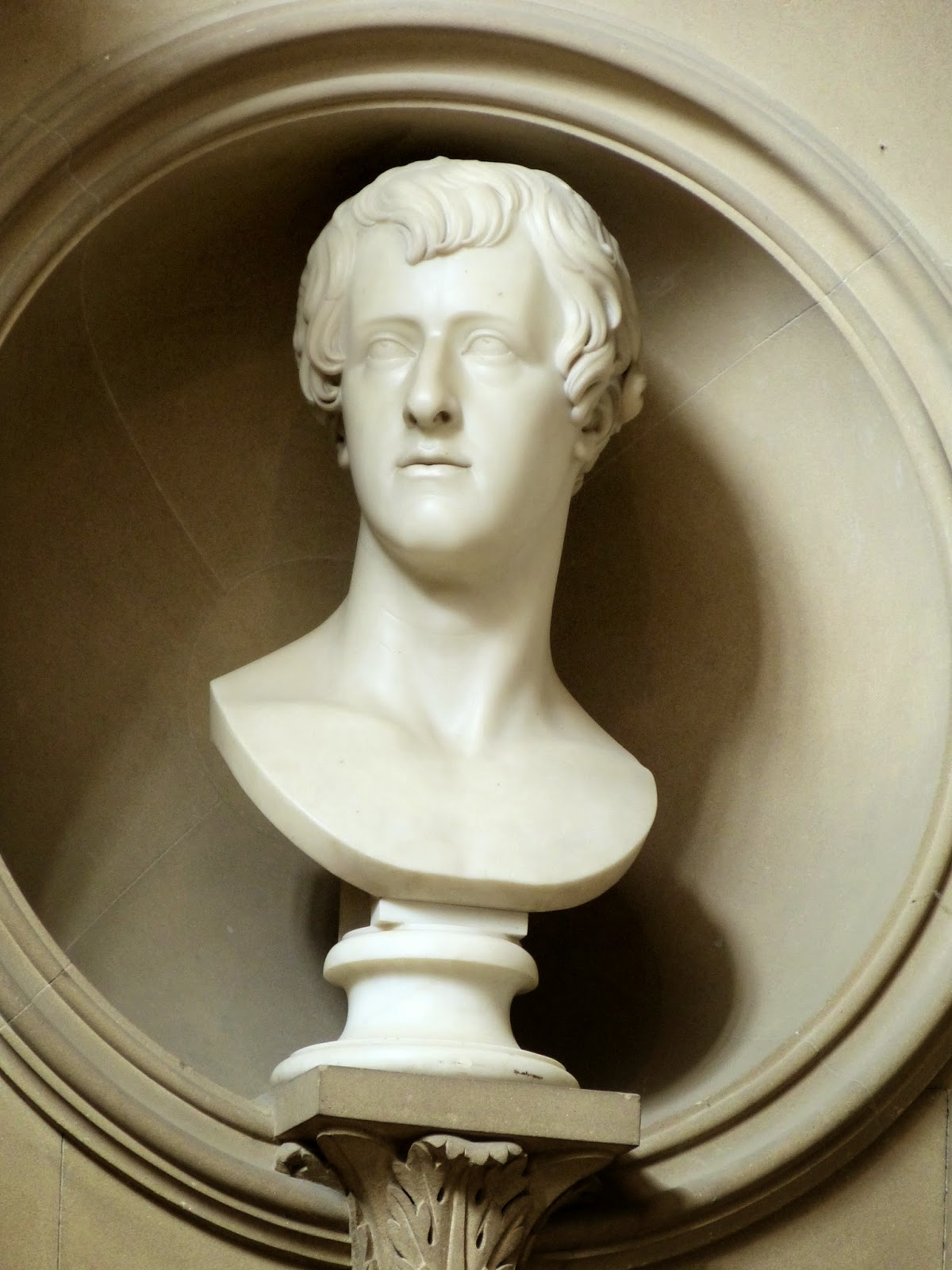 Bust of William Spencer Cavendish,  6th Duke of Devonshire  in Sculpture Gallery, Chatsworth