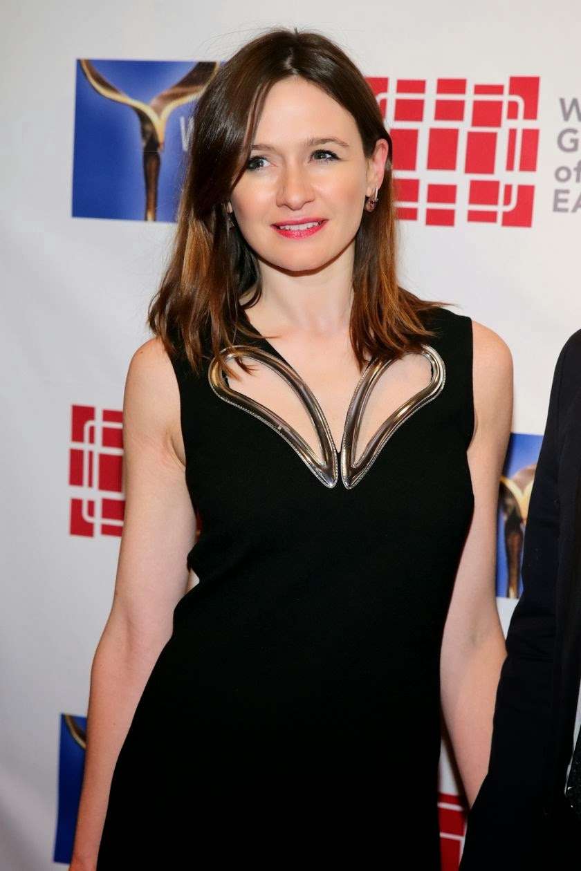 Emily Mortimer in Black Skirt at 66th Writers Guild of America Awards East Coast Ceremony
