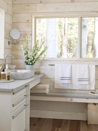 the stylish co domek letniskowy w skandynawskim stylu country cottage bathroom ideas