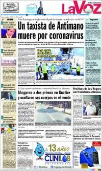 30/03/2020   PRIMERA PAGINA DIARIO DE VENEZUELA