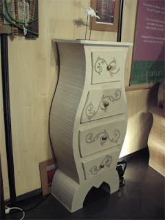 A poner manos a la obra mas muebles de carton for Muebles de carton moldes
