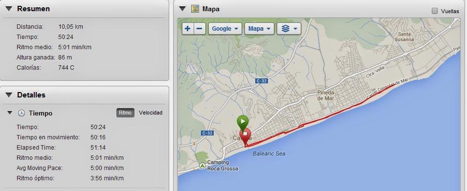 10 km de Calella