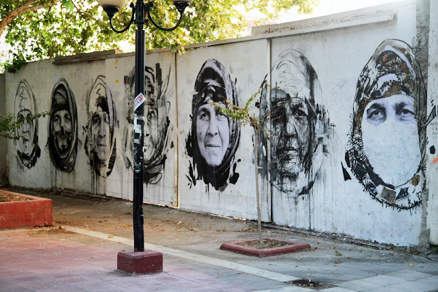 Street Art Portrait By Borondo With Local Greek Artists In Athens, Greece. 1