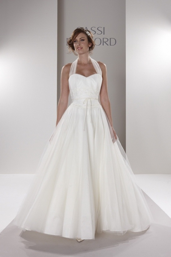 2012 ball gown wedding dresses world of bridal for Halter ball gown wedding dresses