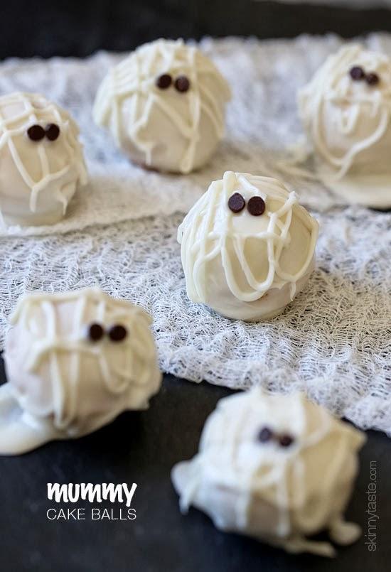 Skinny Mummy Cake Balls | Skinnytaste