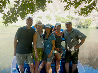 George, Michele, Hyun, Kat, Mark on the Deschutes river, OR