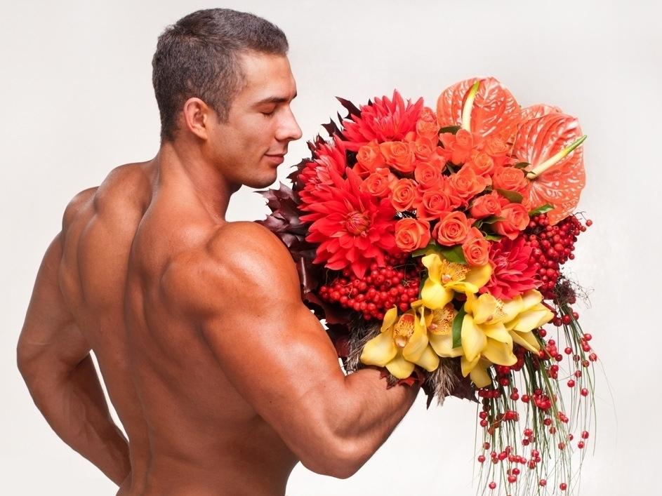 Открытки с цветами для мужчин