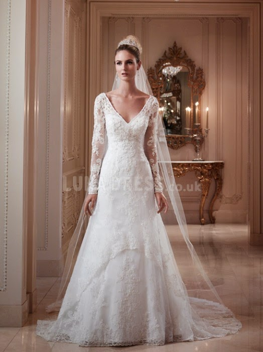 Head for long-sleeved wedding dresses this winter | Prom And Wedding