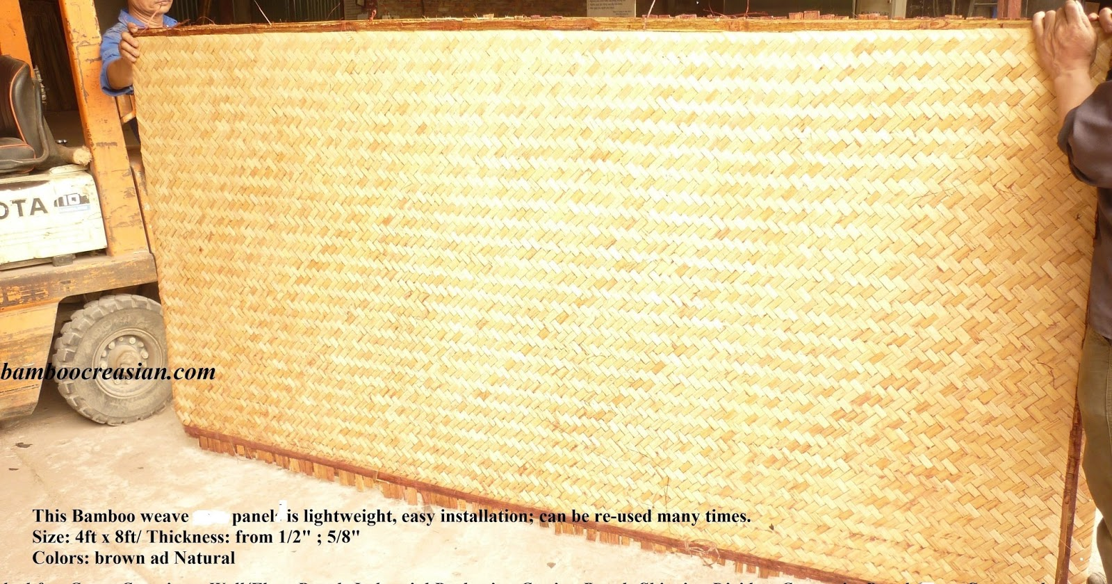 Quality Bamboo and Asian Thatch: Exterior Bamboo Weave Panels ...