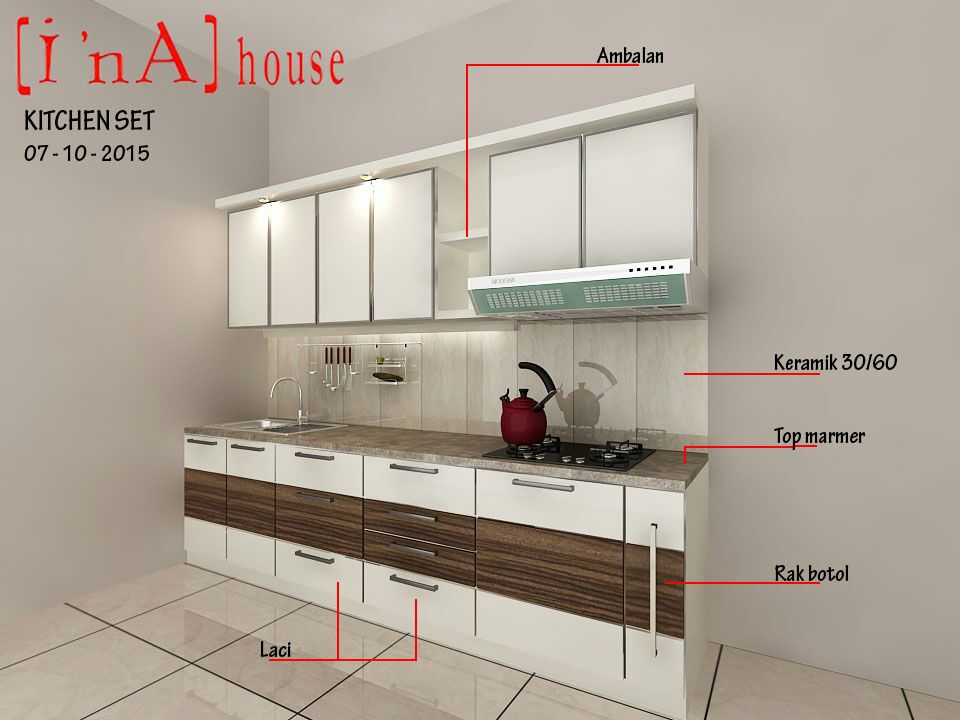 Mommy vero dapur impian for Buat kitchen set