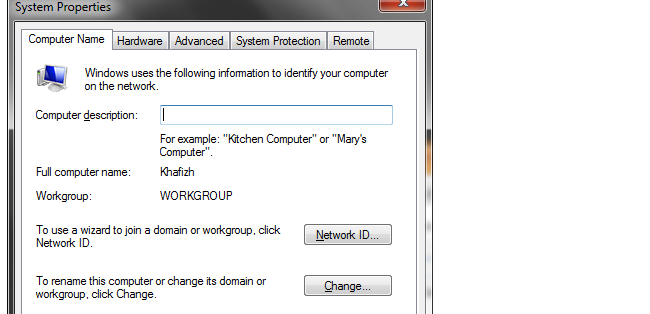 Cara Merubah Nama Komputer pada Windows 7, 8, atau Vista