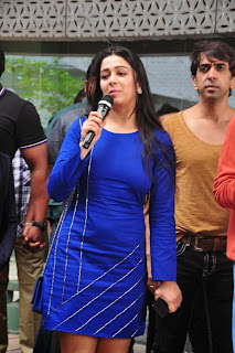 Actress Charmi Kaur Latest Pictures in Short Dress with R Rajkumar Movie Team at Yes Mart 0016